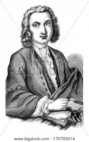Haller, vintage engraved illustration. Magasin Pittoresque 1846.