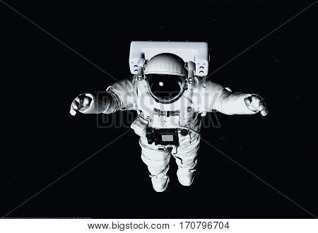 Astronaut ion a black background. ,3d render