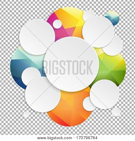 Colorful Speech Bubbles With Transparent Background