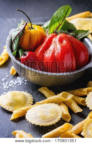 Fresh Pasta And Vegetables