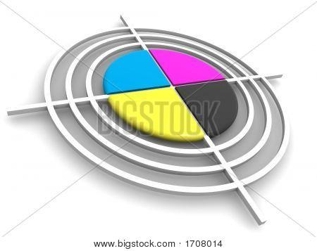 Polygraphic Target. Cmyk