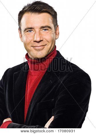 caucasian handsome man portrait smiling