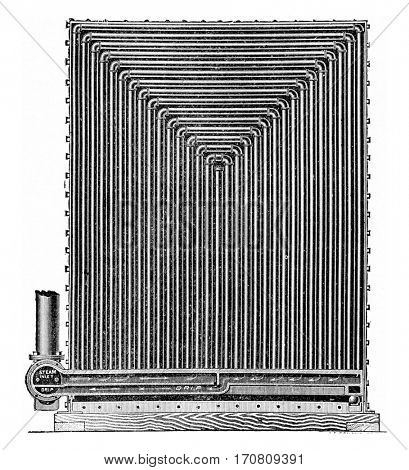 Air Heater Sturtevant, vintage engraved illustration.