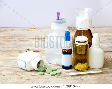 Cold Medicines - Pill, Syrup, Drop, Ampoule, Syringe