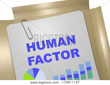 Human Factor - Business Concept