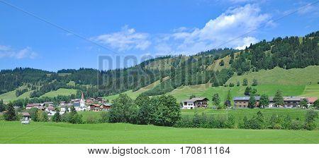 Village of Schattwald in Tannheimer Tal in Tirol,Austria