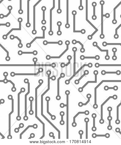Abstract black seamless background in PCB-layout style