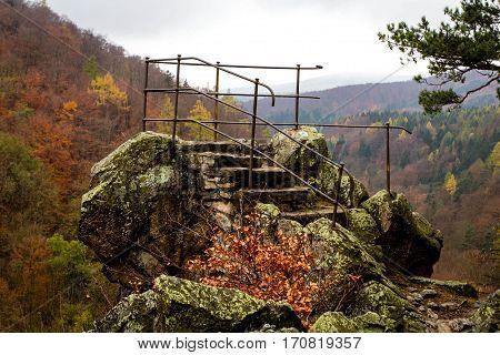 Devil's pulpit - Čertovy kazatelny - marvellous view of Račí údolí valley.