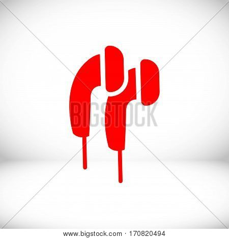 Headphones icon stock vector illustration flat design