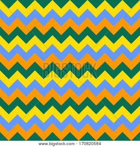 Chevron pattern seamless vector arrows geometric design colorful blue orange yellow green