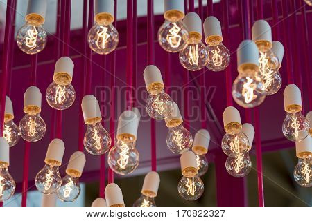 light of incandescent bulbs for a trendy style