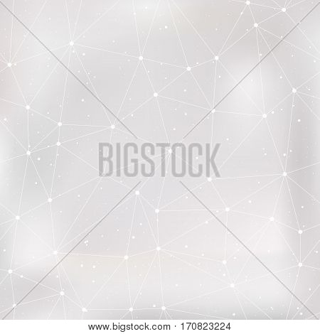 Abstract silver light background. Polygonal pattern. Vector illustration.