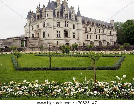 Chenonceau is a famous chateau in the Loire Valley of France.