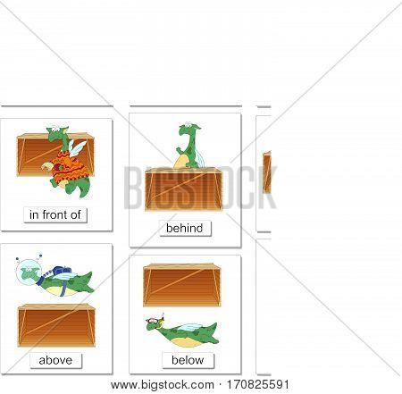 Cartoon Dragon And Box