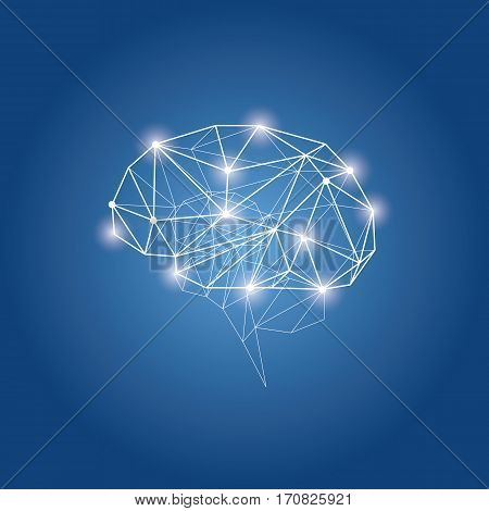 Brains abstract vector concept design logo icon .