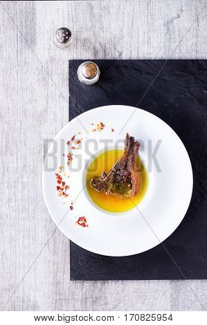Well Done Grilled Lamb Chop