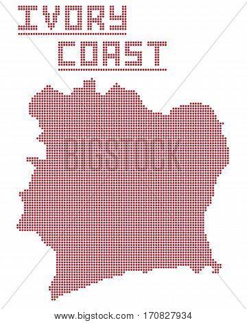 Ivory Coast Africa Dot Map