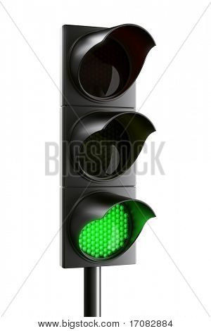 3d rendering traffic light