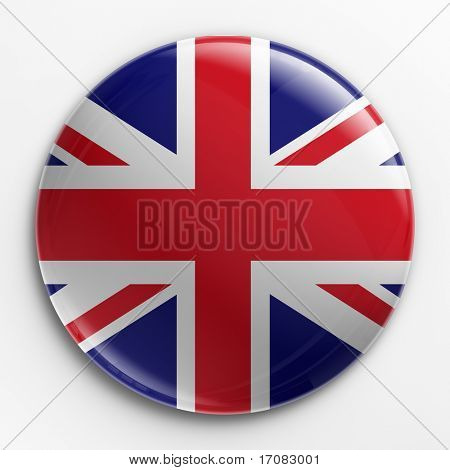 3d rendering of a badge with the Union Jack