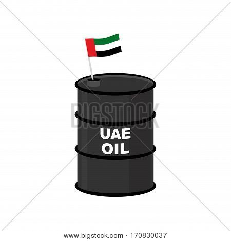 Uae Barrel Oil. United Arab Emirates Petroleum. Business Illustration