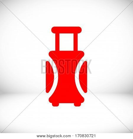 travel bag icon stock vector illustration flat design