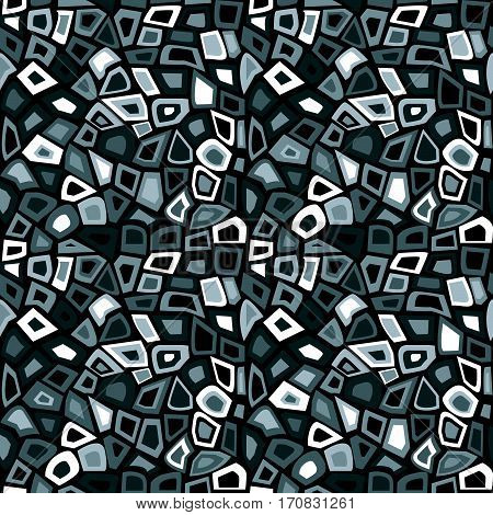 Black and white pattern abstract mosaic