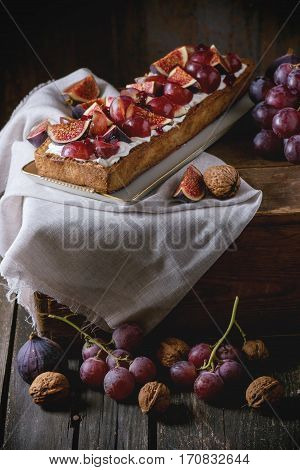Tart With Grapes And Figs