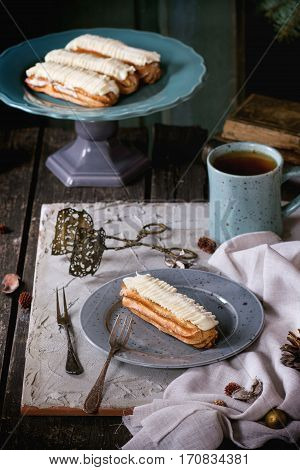 Christmas Table With Eclairs