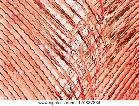 Elegant and simplistic transparent palm tree leaf (red)