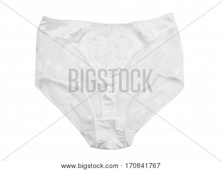 White lace panties isolate on a white background