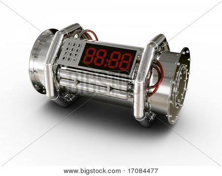 3d rendering of a bomb