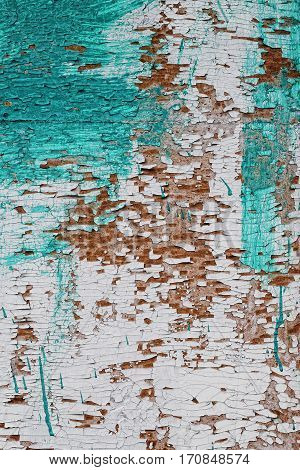 old wooden shabby paint wall. Textured background