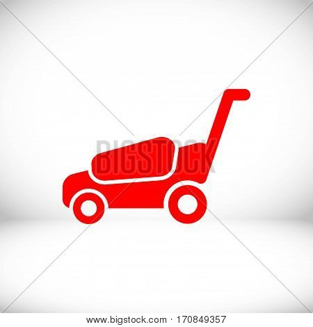 lawnmower icon stock vector illustration flat design