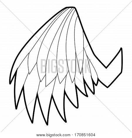 Angelic wing icon. Outline illustration of angelic wing vector icon for web