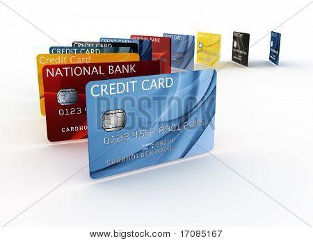 ein Kreditkarten-3D-rendering