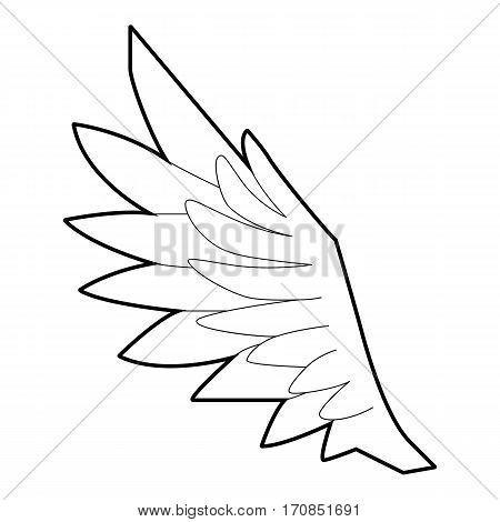Bird wing icon. Outline illustration of bird wing vector icon for web