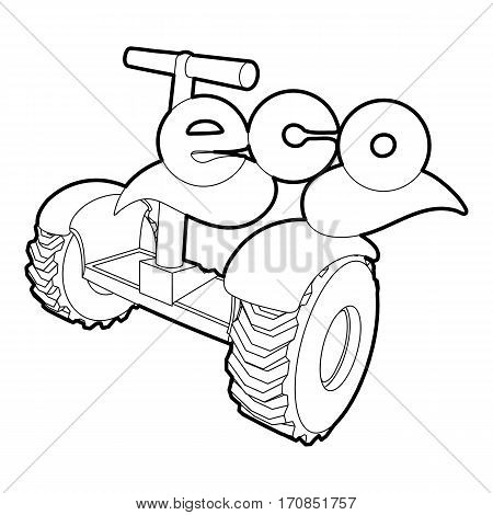 Segway icon. Outline illustration of segway vector icon for web