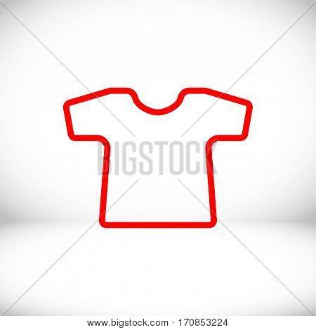 t-shirt icon stock vector illustration flat design