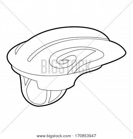 Sport helmet icon. Outline illustration of sport helmet vector icon for web