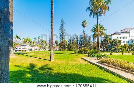 Santa Barbara Sunken gardens in southern California