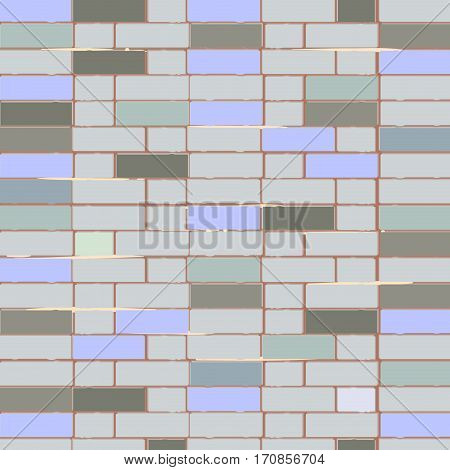 Vector brick wall. Architectural design background with old brick wall
