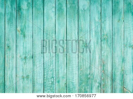 Wooden Background From The Boards Painted Blue Color.