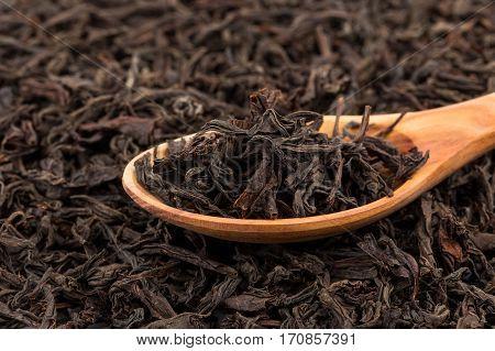 Black Tea In A Spoon