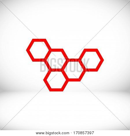 honeycomb honey icon stock vector illustration flat design