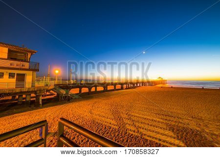 a clear night in Hermosa Beach California