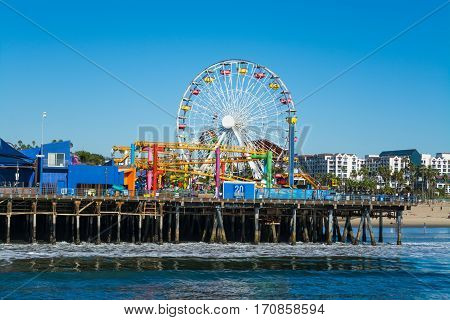 Amusement park in Santa Monica pier California