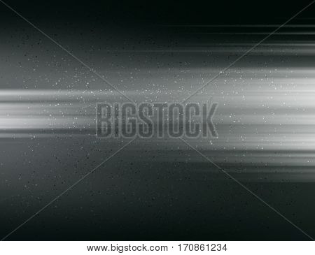 Abstract blurred light template vector background. Noise effect. Black and white color