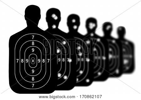 shot target shooting range background bullet holes sports object