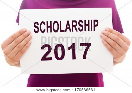 Paper Sheet With Text Scholarship 2017