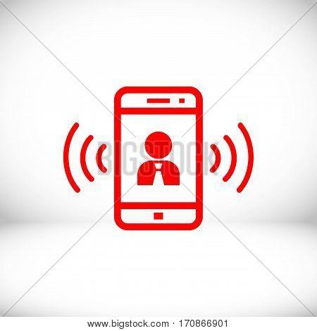 phone icon stock vector illustration flat design